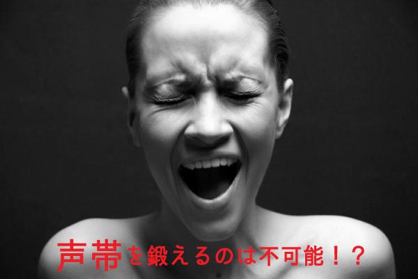 声帯を鍛えるのは不可能!?声帯を動かす筋肉を鍛えよう!