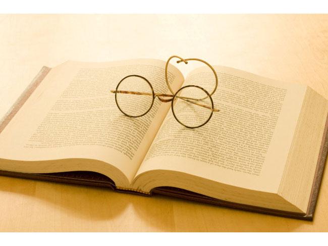 本とメガネ